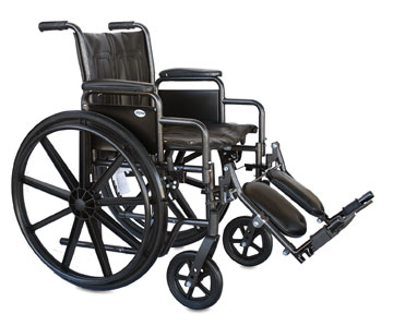 "22"" Heavy Duty Wheelchair with Footrests"