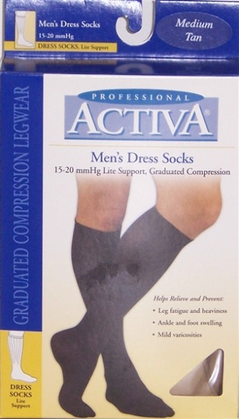 Activa Men's 15-20 mmHg Graduated Compression Socks