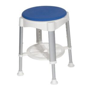 Bath Stool With padded Swivel Seat