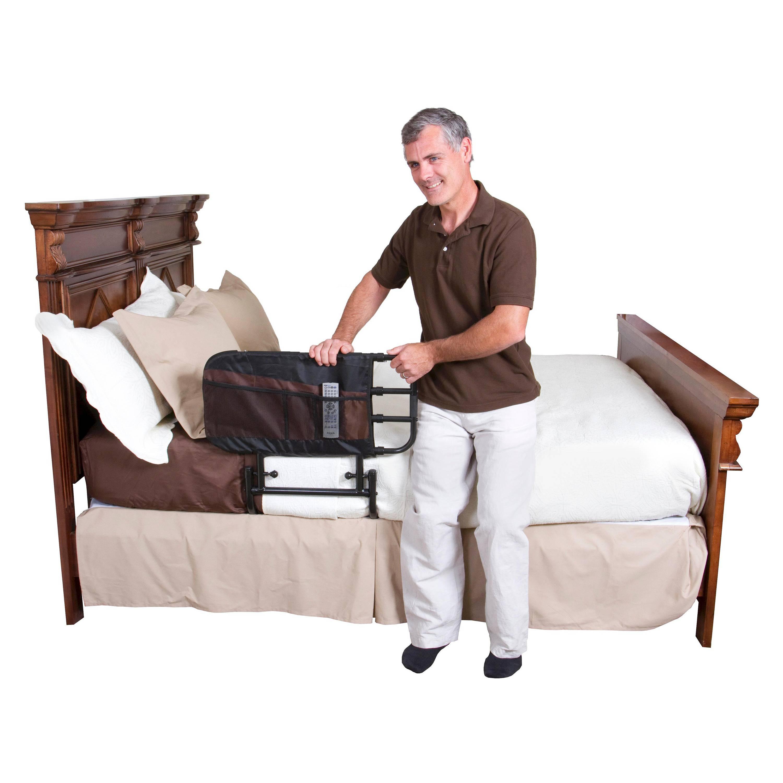 elderly ip home adjustable length for walmart rail ez stander rails adjust bed black com folding and