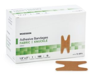 "Adhesive Fabric Knuckle Bandages 1.5x3"" 100/Box 16-4814"