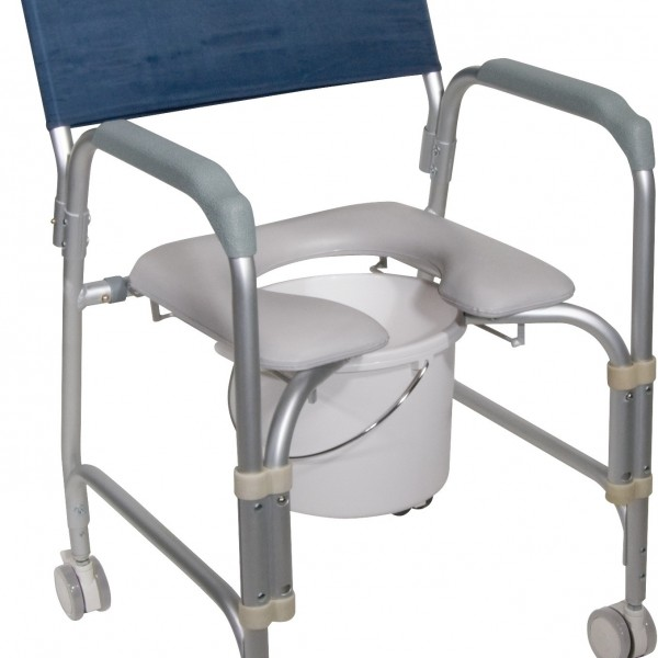 rolling shower chair and commode by drive medical